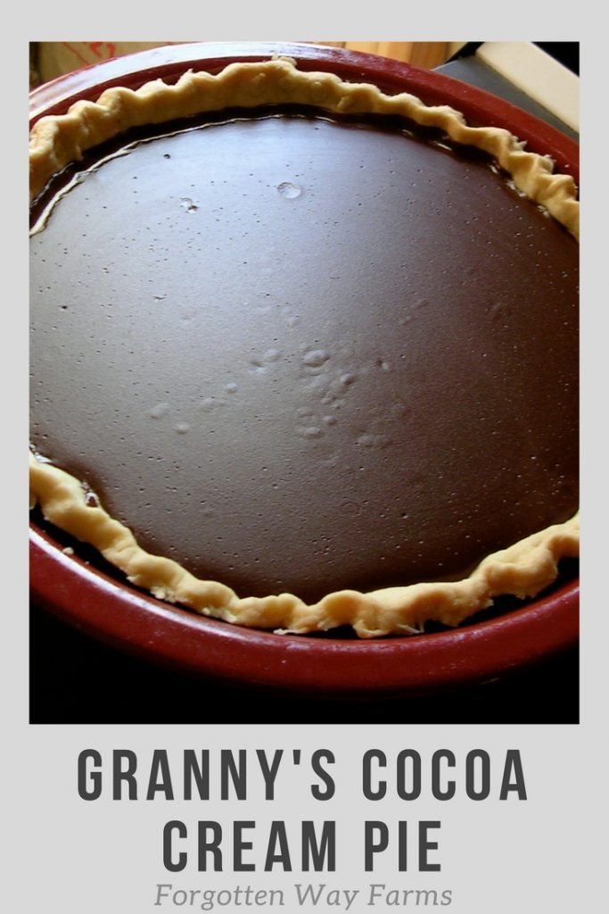 Granny's Cocoa Cream Pie, I LOVE this recipe!!!! It's amazing.