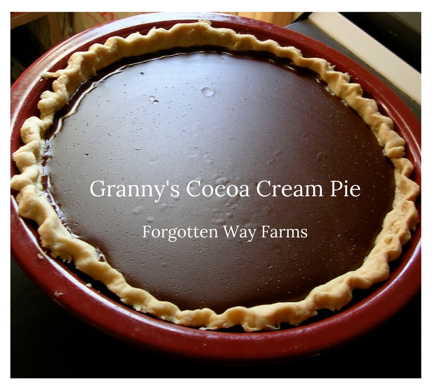 OMG! LOVE, LOVE this recipe for Granny's Cocoa Cream Pie! I couldn't find it for the longest time, so happy now.