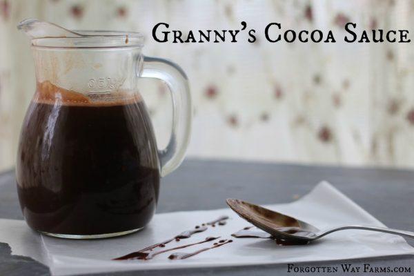 Granny's Cocoa Sauce