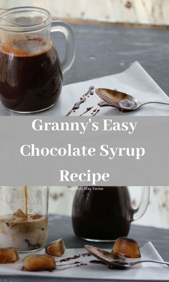 Easy Chocolate Sauce recipe with cocoa powder! Homemade Chocolate Syrup makes everything taste better ;) Forgotten Way Farms #chocolatesauce #chocolatedessert #easydesserts #dessertsrecipesvideos