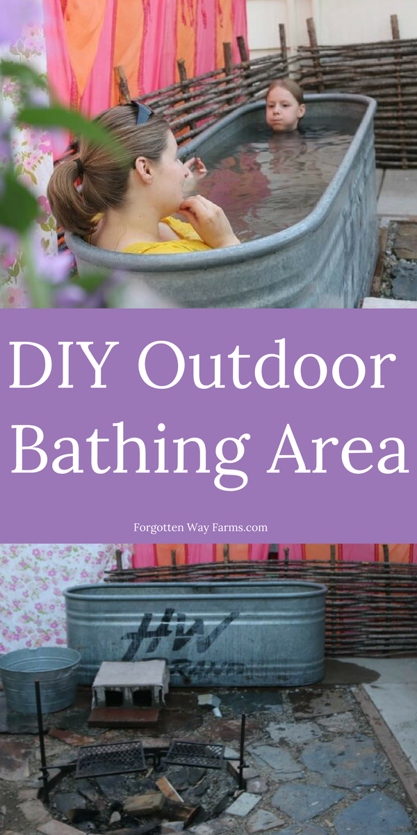 What a GORGEOUS Outdoor Bathing Area! LOVE this idea and how easy it is!!!!