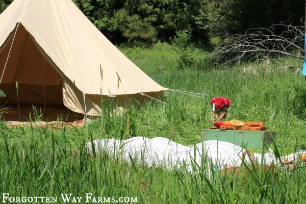 A Picnic In The Country With Our Bell Tent