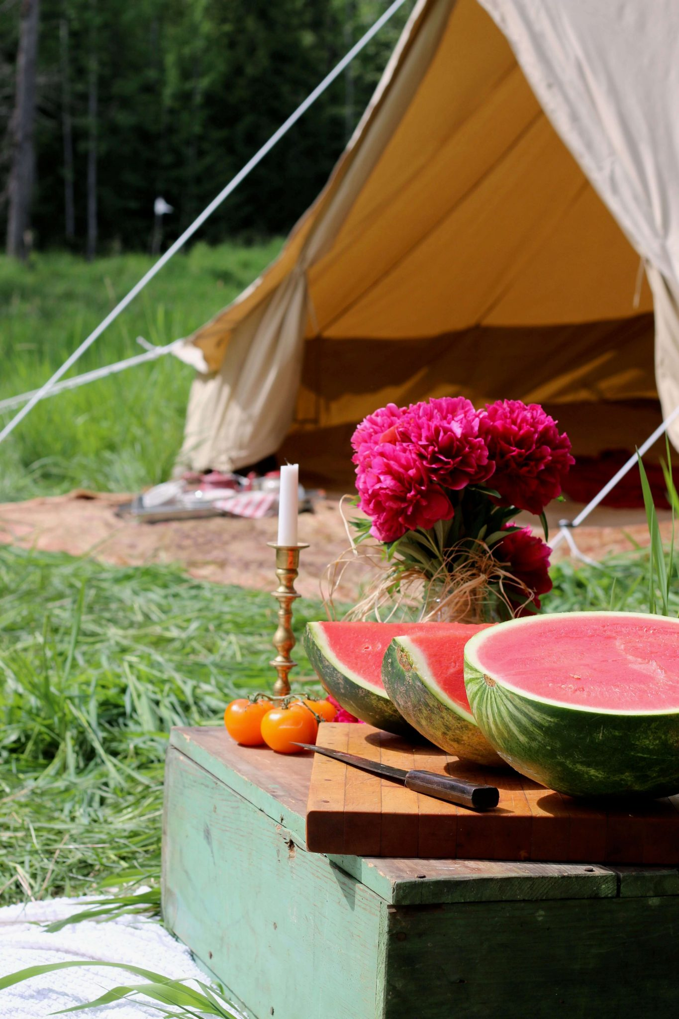 Why We Bought a Canvas Bell Tent for Our Homestead-Forgotten Way Farms