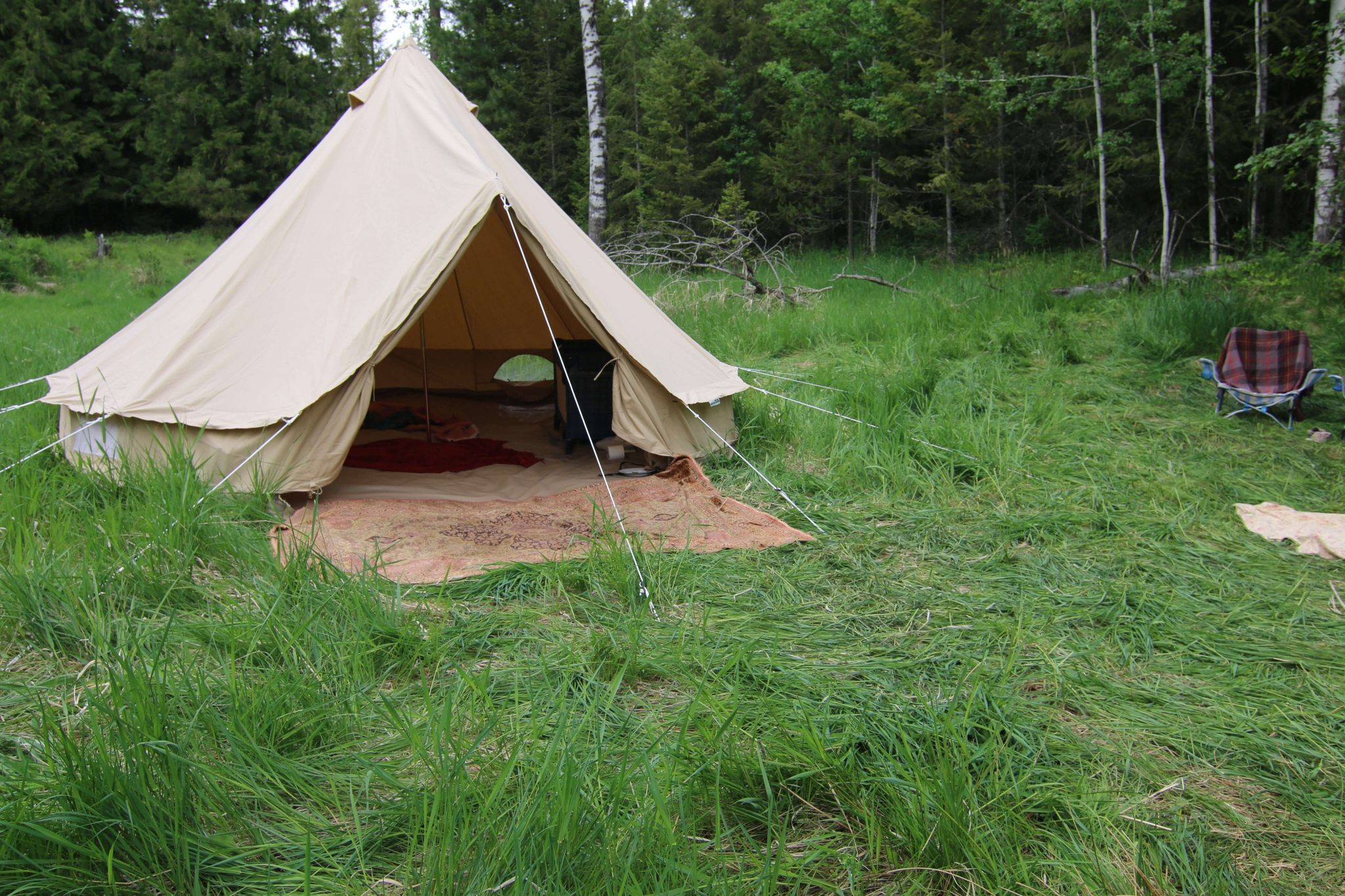 Why We Bought a Canvas Bell Tent from Europe and How We Picnic in the Country with it.