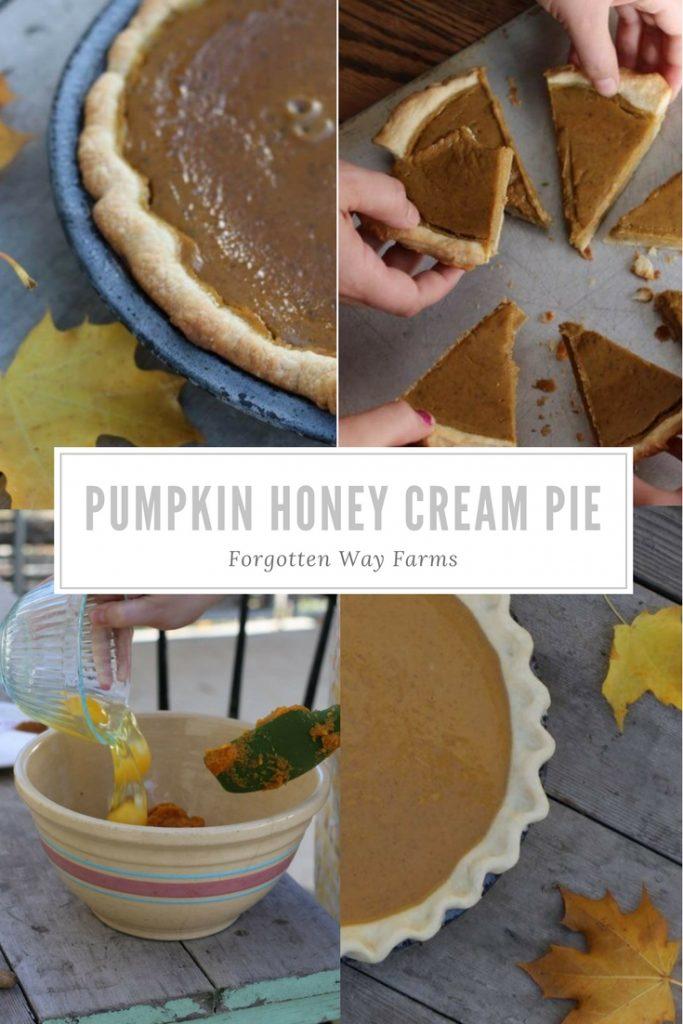 Pumpkin Honey Cream Pie at Forgotten Way Farms
