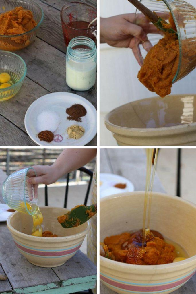 steps for making a pumpkin pie