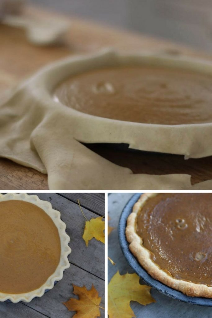 steps of making a pumpkin pie in pictures