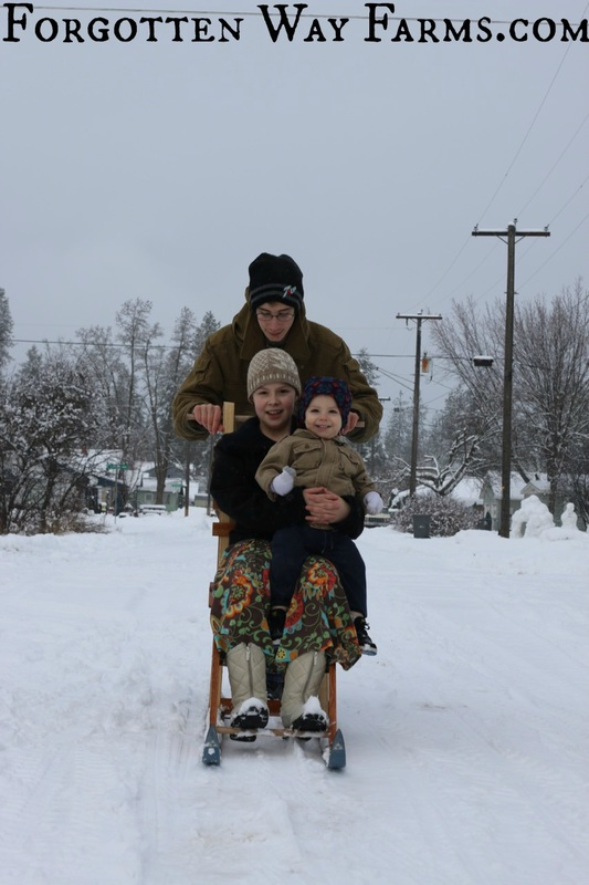 Homemade Kicksled, awwww that looks like so much fun! LOVE this.