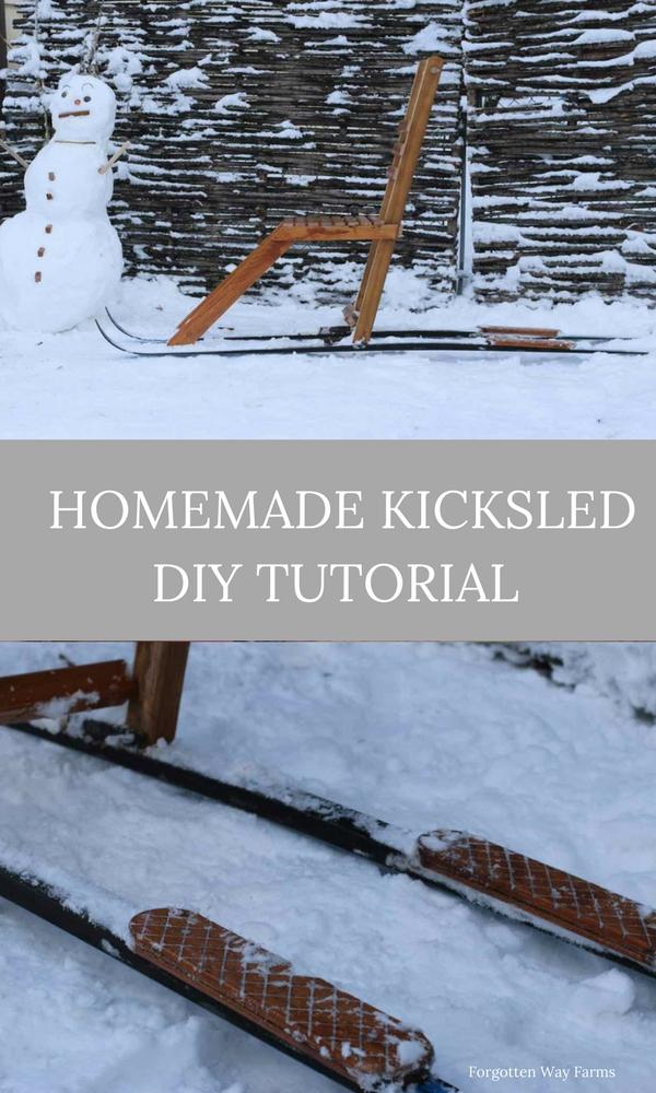 Homemade Kicksled at Forgotten Way Farms!