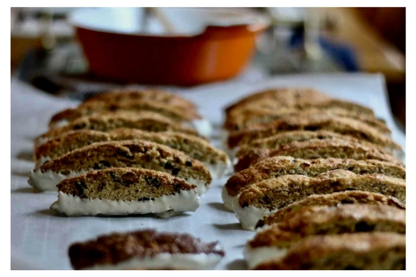 Homemade Biscotti & Hot Coffee