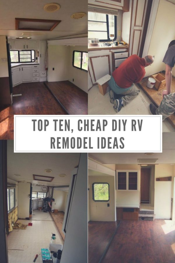 Top Ten Cheap DIY RV Remodel Ideas - Forgotten Way Farms