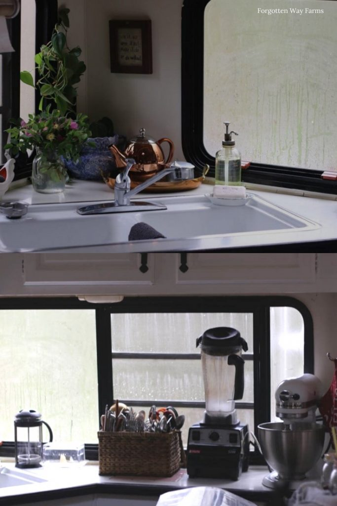 Fifth Wheel kitchen ideas! Small spaces and tips for doing it cheap! Forgotten Way Farms Top Ten Cheap DIY RV Remodel Ideas