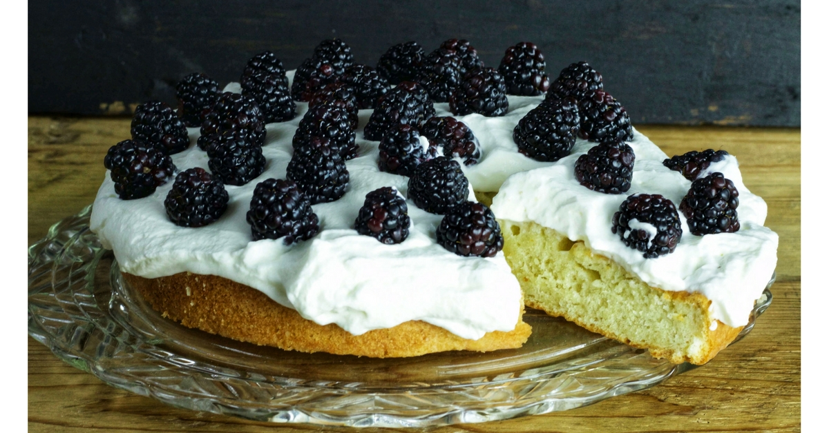 OH, a French Yogurt Cake with whipped cream and blackberries? Yes, please! Love Forgotten Way Farms and their beautiful pics!!!!