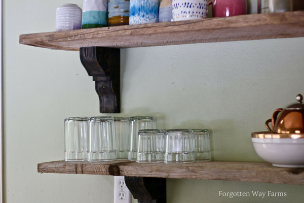 Easy DIY Barn Wood Shelves