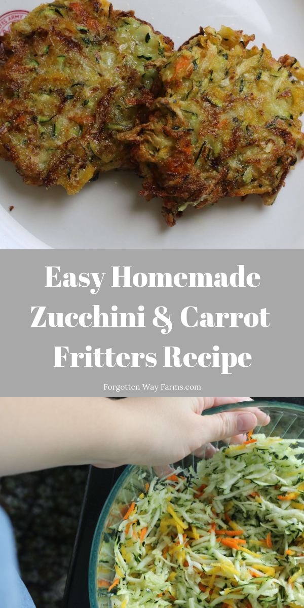 zucchini and carrot fritters recipe - such an easy side dish recipe, it's perfect for family dinner at home!