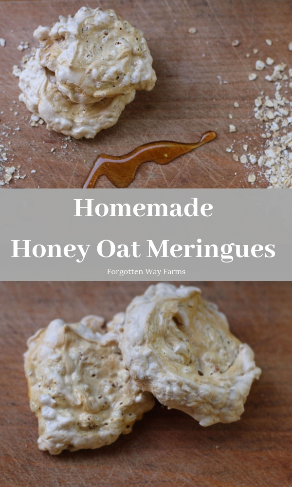 These Honey Oat meringues have a delightfully chewy texture, with lots of crunch from the oats and I love the taste of honey on top | Forgotten Way Farms