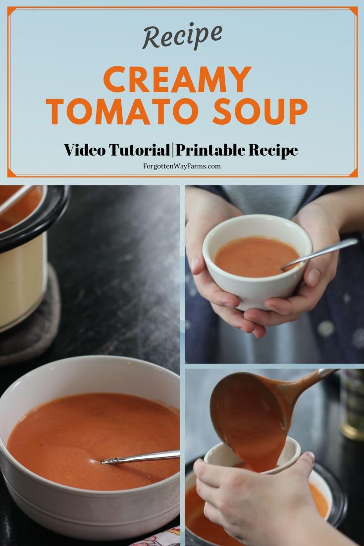 Recipe for Easy Creamy Homemade Tomato Soup Recipe
