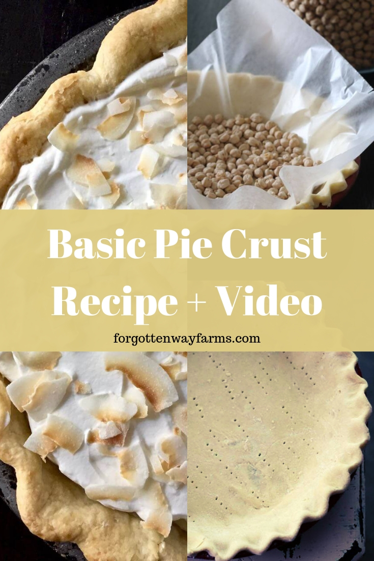 pie crust recipe + video tutorial Gluten-Free Variation Blind Baking Pie Crust double pie crust recipe crust baking quick pie crust recipe pie crust recipe cooking video tutorials