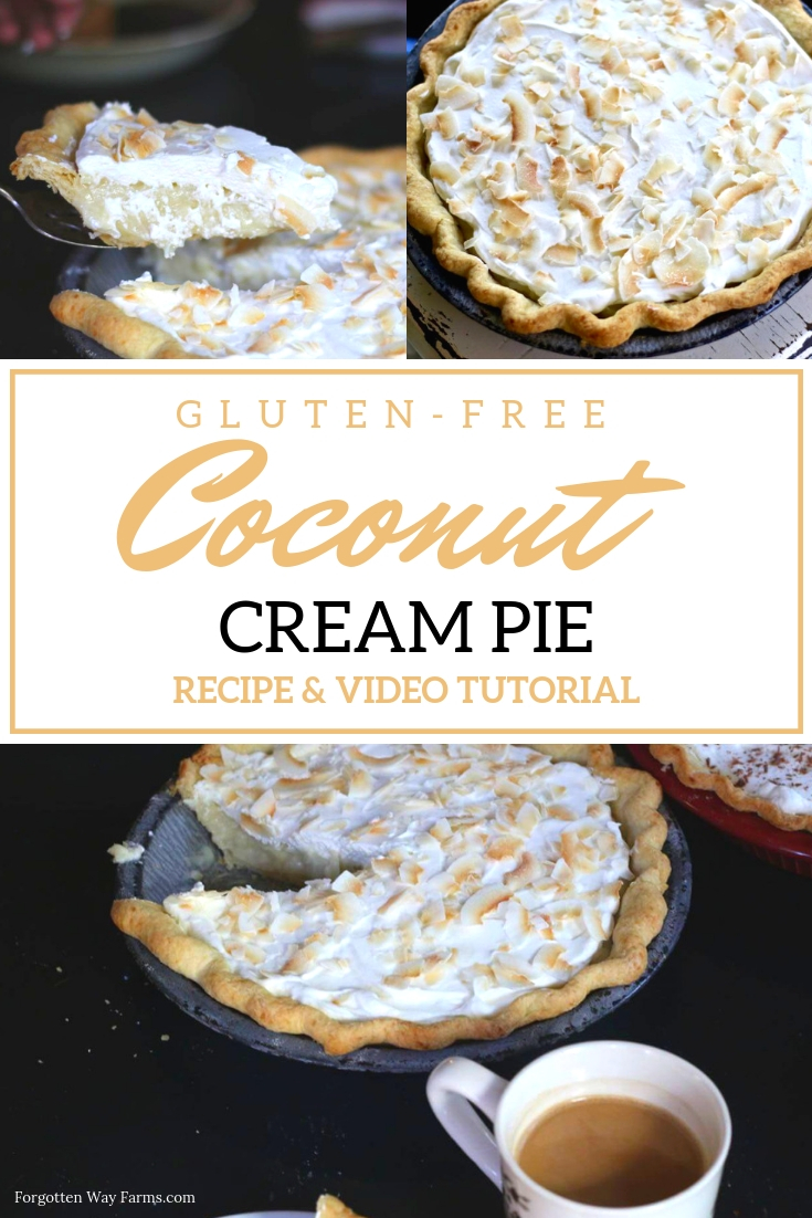 Easy Gluten-Free Desserts Gluten-Free Recipes Gluten-Free Pie Coconut Custard Pie Easter Desserts Old-Fashioned Coconut Cream Pie Coconut Cream Pie Gluten-Free Pie Crust Summer Pies Easter Desserts Pinterest
