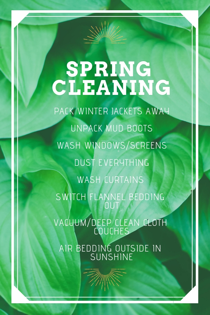 Spring Cleaning, Marie Kondo method, Spring Cleaning Check List