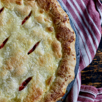 Rhubarb Pie|4 Ingredients
