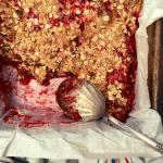 Strawberry Rhubarb Crisp, easy and gluten-free recipe